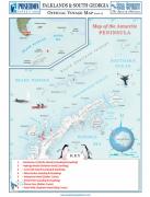 Carte péninsule antarctique